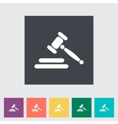 Auction flat icon vector