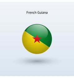French guiana round flag vector