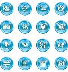 Internet or computing icon set vector