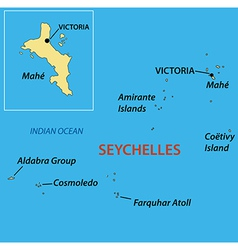 Republic of seychelles - map vector