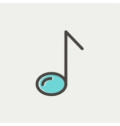 Eight note thin line icon vector