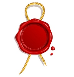 Wax seal vector