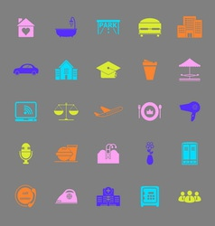 Hospitality business color icons on gray vector