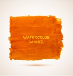 Abstract rectangle orange watercolor hand-drawn vector