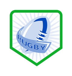 Rugby shield icon vector