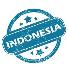 Indonesia round stamp vector