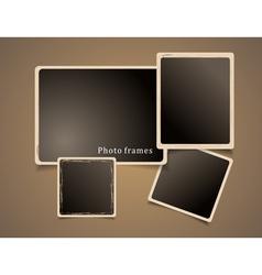 Photo frames design vector