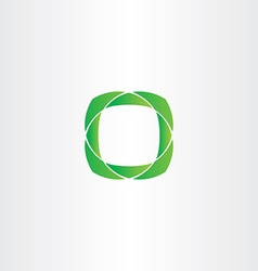 Stylized green square frame icon vector