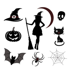 Halloween icons and emblems vector