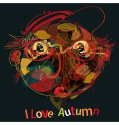 I love autumn vector
