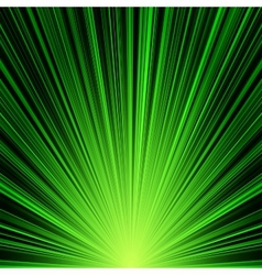 Abstract green stripes burst background vector