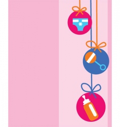 Baby decorations vector