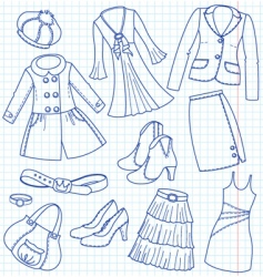 Lady's wear vector