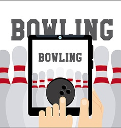 Bowling sport vector