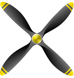 Airplane propeller vector