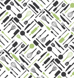 Kitchen tools pattern vector