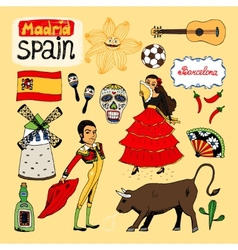Landmarks and icons of spain vector