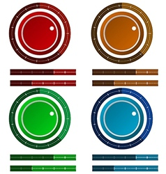 Icons for colored regulation switch scale vector