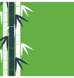 Bamboo stems background vector