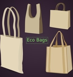 Eco bags vector