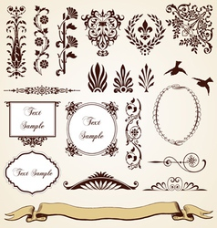 Decorative ornaments vintage design vector