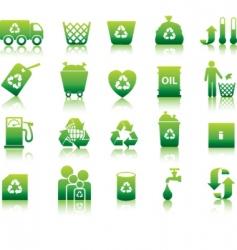 Eco silhouettes vector