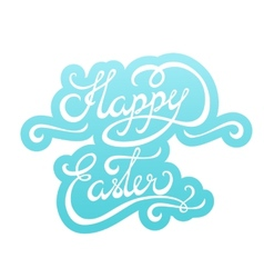 Happy easter lettering sticker vector
