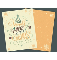 Have yourself christmas card vector