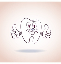 Healthy tooth mascot cartoon character vector