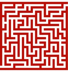 Red maze vector