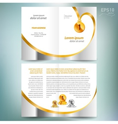 Booklet catalog brochure award winner element gold vector