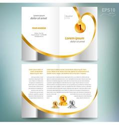 Booklet catalog brochure award winner element gold vector