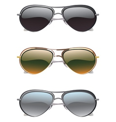 Sunglasses icons2 vector