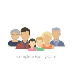 Complete family care vector