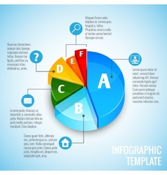 Pie chart web design infographic vector
