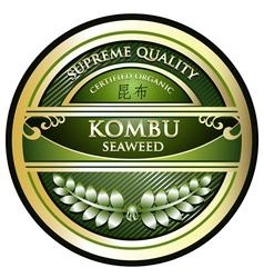 Kombu seaweed vector