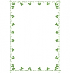 Frame with clover vector