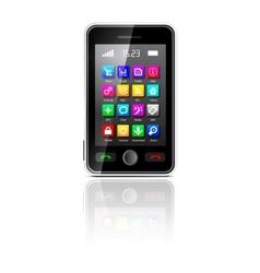 Touchscreen smartphone vector
