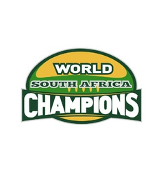 South africa rugby champions vector