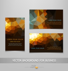 Abstract business card templates vector