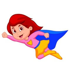 Super girl cartoon vector