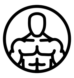 Fitness man icon vector
