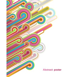 Abstract with lines vector
