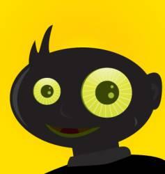 Creepy boy vector
