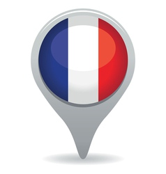 French flag pointer vector