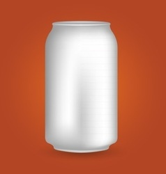 White blank drink can vector