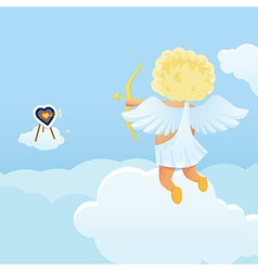 Funny cupid s shooting range vector