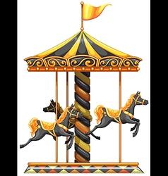 A merry-go-round ride vector