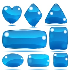 Set of opaque glass shapes vector