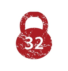 Red grunge weight logo vector